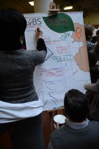 Учасники майстер-класу пропонують свої ідеї щодо створення попиту у Львові