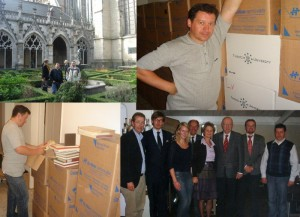 Делегація УКУ приймає подарунок від Тілбурзського університету - 12 тис. томів сучасної академічної богословської літератури