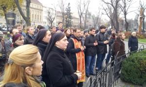 В центрі міста спільнота УКУ доєдналася до загальноміського вшанування пам'яті жертв Голодоморів