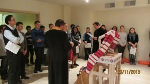 Спільнота Колегіуму УКУ зібралася на спільну молитву за тих, хто в ці дні вийшов на мітинги