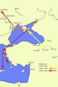 Три етапи розселення вірмен на північ від Чорного моря