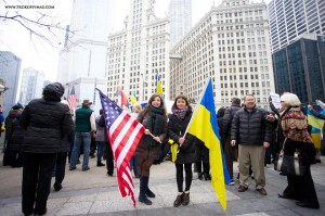 Юлія Бухтоярова та Христина Бондарєва намітингу в Чикаго