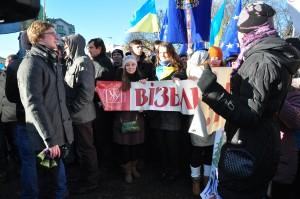 Спільнота УКУ на львівському євромайдані. загальнонаціональний страйк. 2 грудня 2013. Фото Надії Надільної
