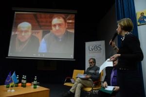 Олег Рибачу та Євген Глібовийцький доєдналися до дискусії з Києва за допомогою skype