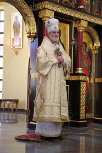 Зустріч зі спільнотою УКУ розпочалася з Архиєрейсько\ Божественної Літургії, яку очолив владика Борис