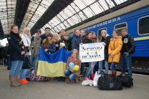Цього разу з Харкова до Львова приїхало близько 250 студентів