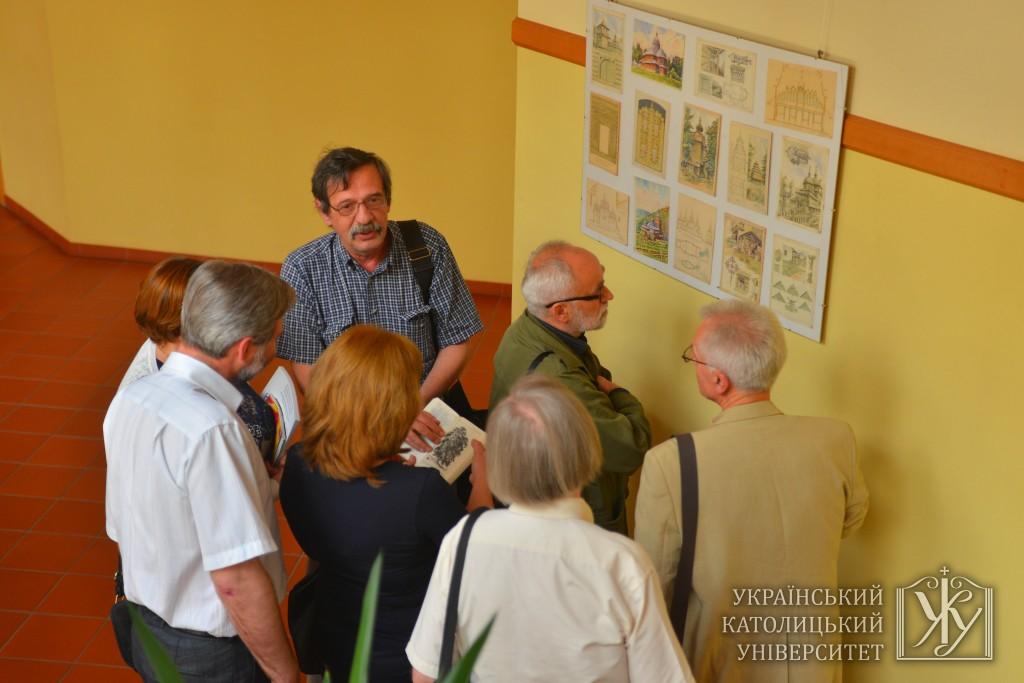 Частина робіт Антіна Вариводи була представлена учасникам конференції
