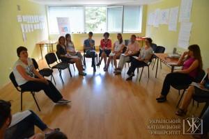 Під час тренінгів. Олександра Целішева розповідає про лідерство