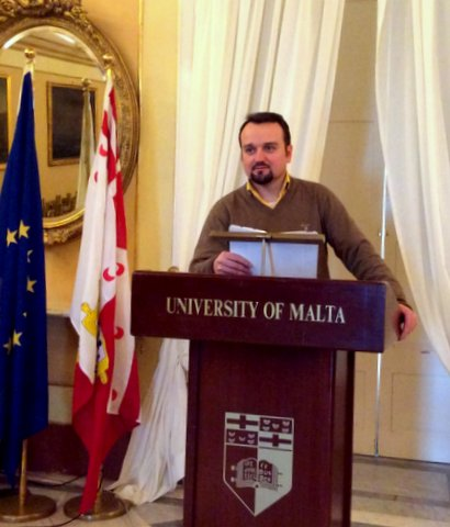 Виступ диякона Романа Завійського на конференції