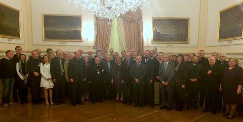 Учасники конференції на прийомі у резиденції президента Мальти, Марії-Луїзи Колейро Прека