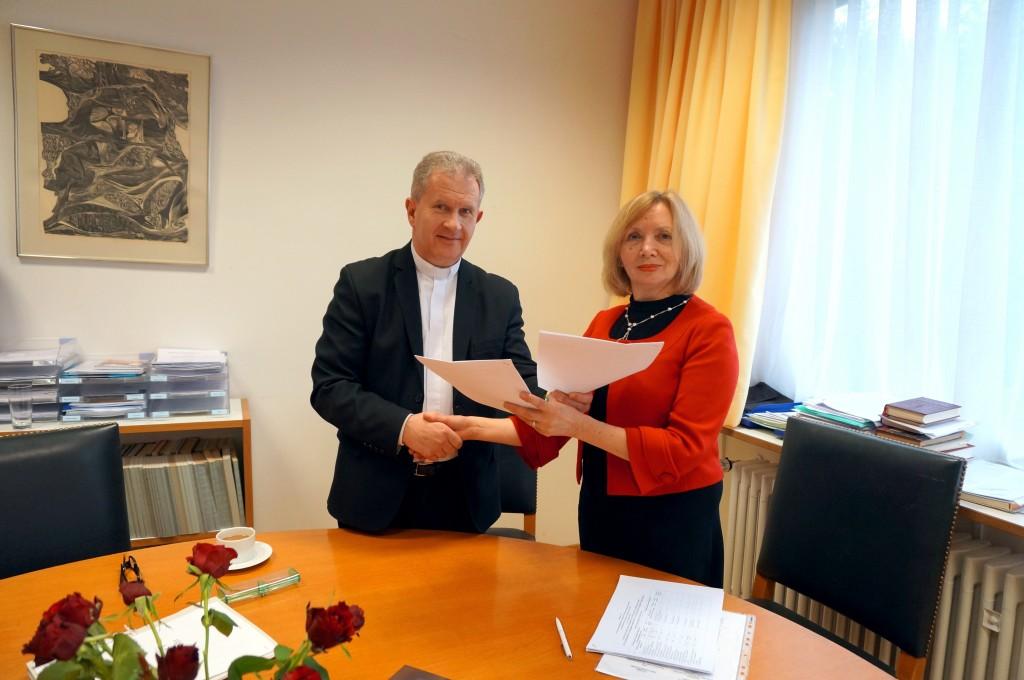 o. Bohdan Ptach and prof. Yaroslava Melnyk