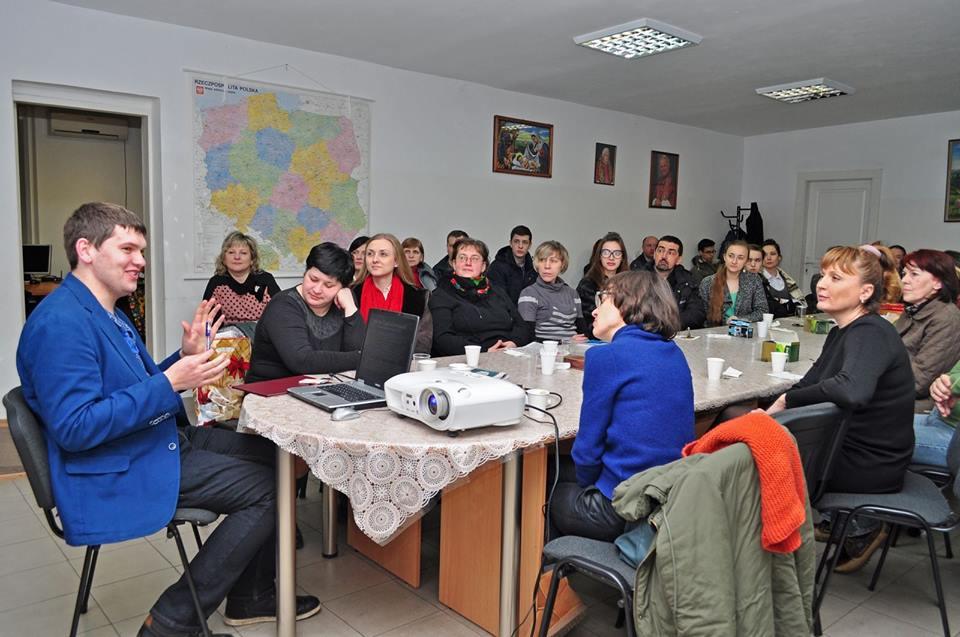Аспірант УКУ Назарій Петрів виступає в Товаристві польської культури ім. св. Івана Іавла ІІ