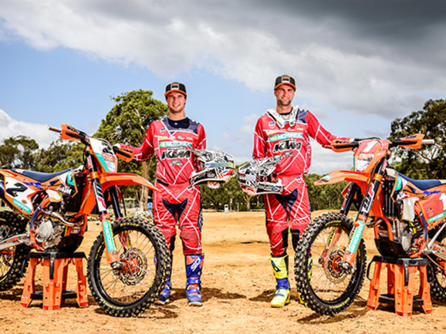 KTM'S MILNER AND SNODGRASS READY FOR AORC OPENER