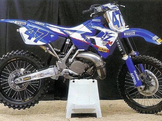 Michael Maschio's 1998 factory Yamaha YZM 250
