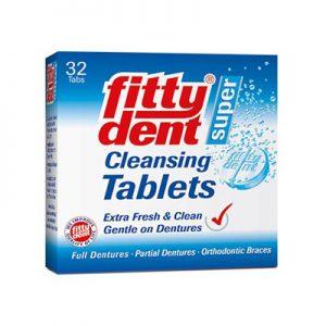 tablete pentru curatarea protezei dentare și a aparatului dentar