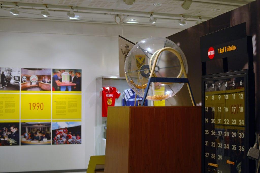 Urheilumuseon näyttely Veikkaus 70 2010