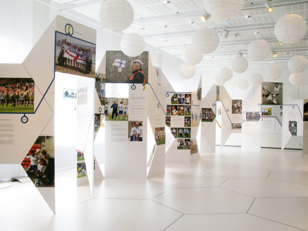 Urheilumuseo näyttely Pois paitsiosta – naisten jalkapallomaajoukkueen tarina 2009