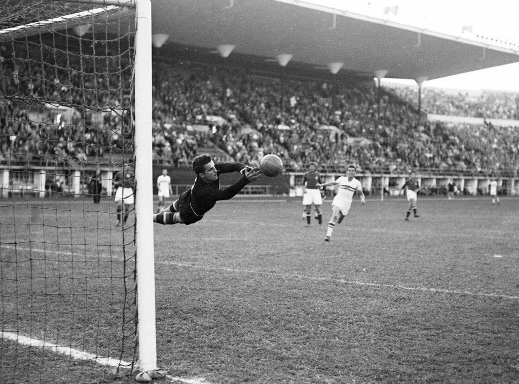 jalkapallon loppuottelu Unkari-Jugoslavia Helsingin olympialaisissa