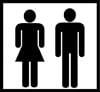 Naisten- ja miestenhuoneet Urheilumuseon tiloissa