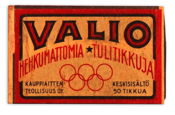 Helsinki Olympic Games 1940 Matchbox The Sports Museum of Finland