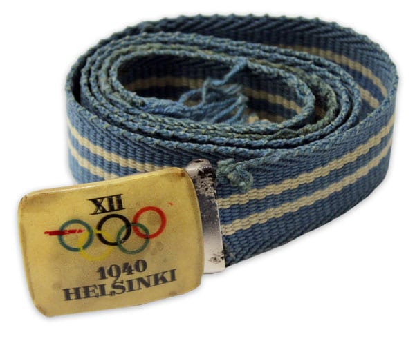 Helsinki Olympic Games 1940 Textile belt The Sports Museum of Finland
