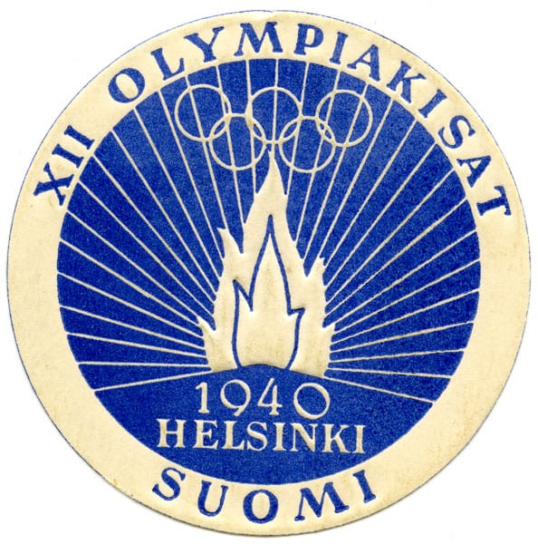 Helsinki Olympic Games 1940 Letter sealing stamp The Sports Museum of Finland