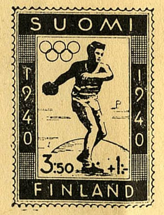 Helsinki Olympic Games 1940 Stamp sketch The Sports Museum of Finland