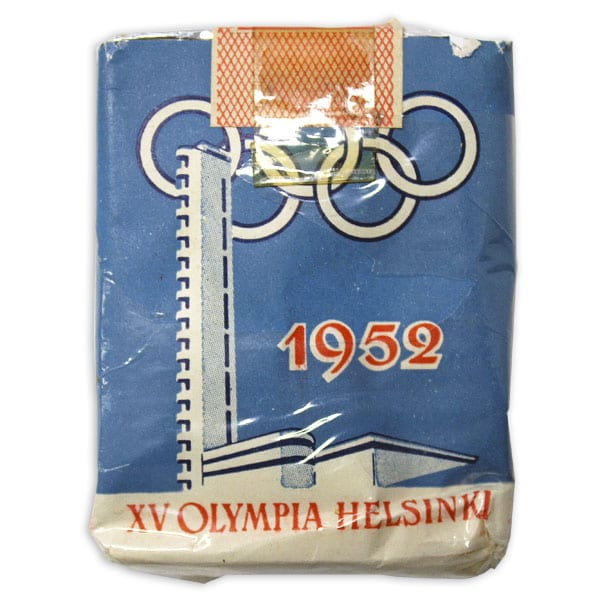 Helsinki Olympic Games 1952 Cigarette pack The Sports Museum of Finland