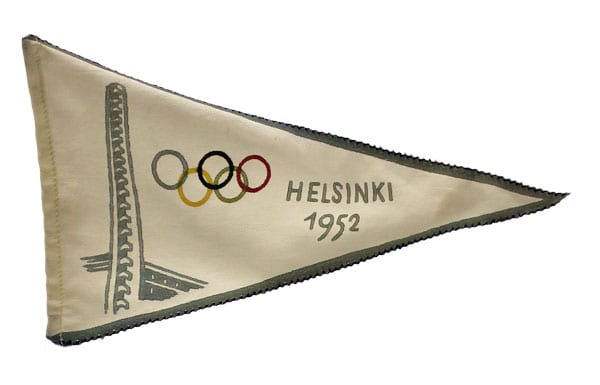 Helsinki Olympic Games 1952 Olympic pennant The Sports Museum of Finland
