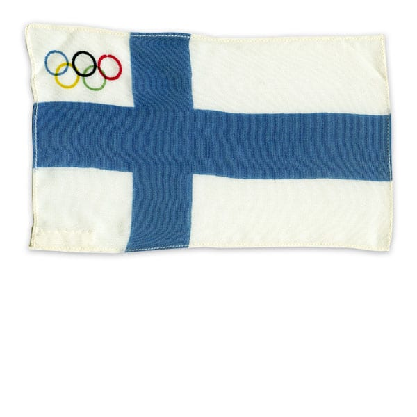 Helsinki Olympic Games 1952 Table flag The Sports Museum of Finland