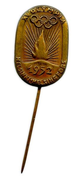 Helsinki Olympic Games 1952 Olympic pin The Sports Museum of Finland