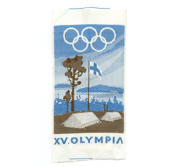Helsinki Olympic Games 1952 Olympic camping badge The Sports Museum of Finland