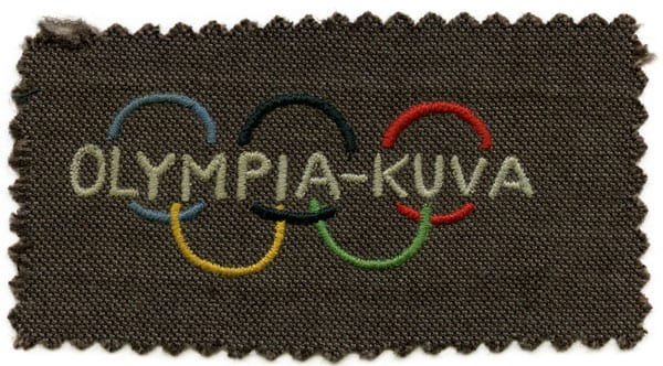 Helsinki Olympic Games 1952 Textile badge thermometer The Sports Museum of Finland