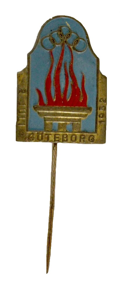 Helsinki Olympic Games 1952 Torch relay pin The Sports Museum of Finland