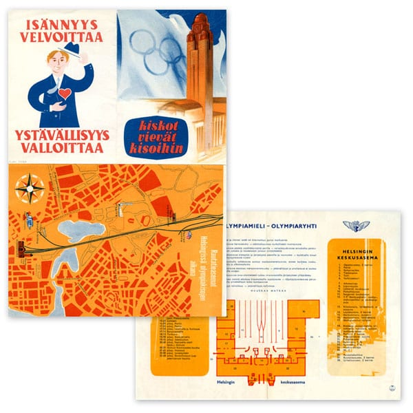 Helsinki Olympic Games 1952 Olympic brochure The Sports Museum of Finland