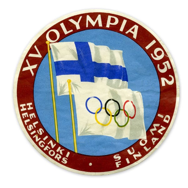 Helsinki Olympic Games 1952 Suitcase sticker The Sports Museum of Finland