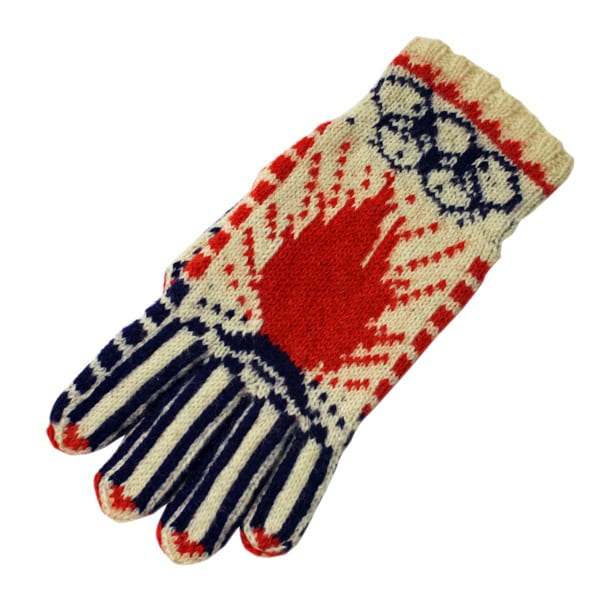 Helsinki Olympic Games 1952 Wool glove The Sports Museum of Finland