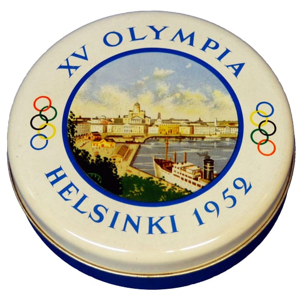 Helsinki Olympic Games 1952 Sweet box The Sports Museum of Finland