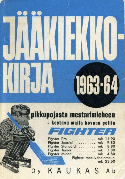 Jääkiekkokirja 1963-64 kansi. Urheilumuseo.