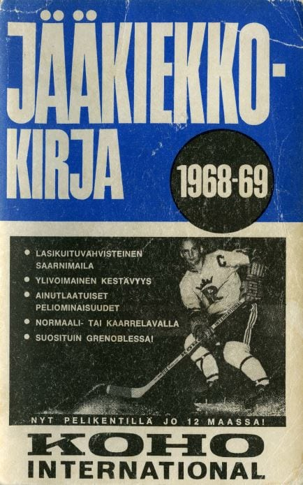 Jääkiekkokirja 1968-69 kansi. Urheilumuseo.