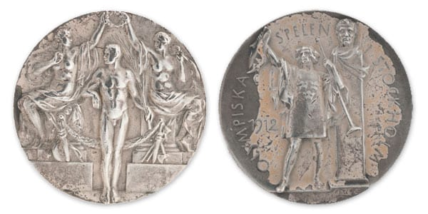 Stocholm-1912_Olympic silver medal