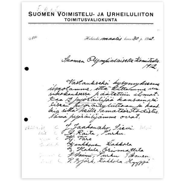 Stockholm-1912_Letter from Ivar Wilskman