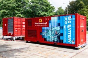 Mobiele energieopslag voor grote vermogens