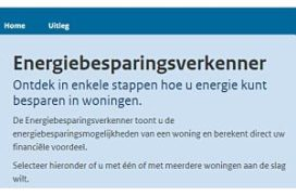 Hernieuwde Energiebesparingsverkenner online