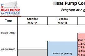 IEA Heat Pump Conference 2017: nog 5 dagen om te registreren