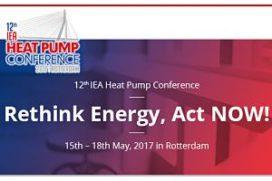 Nog twee weken tot de 12e IEA Warmtepompconferentie in Rotterdam