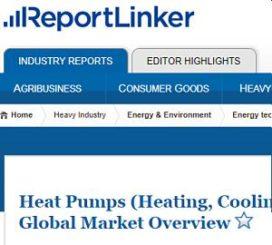 De wereldwijde markt voor warmtepompen