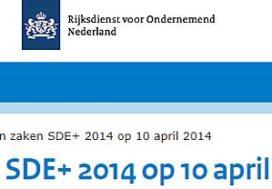 Stand van zaken SDE+ 2014