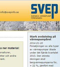 Verkoop Zweedse warmtepomp steeg in 2013 met 4%