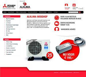 Nieuwe webshop Mitsubishi Electric/Alklima bv biedt supersnelle service